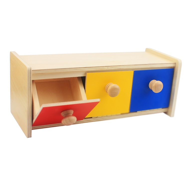 Baby Toy Box Colored Drawers